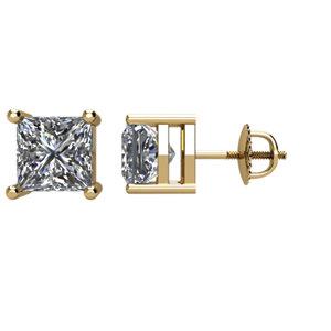 Earrings , 14K Yellow 1 1/2 CTW Diamond Earrings
