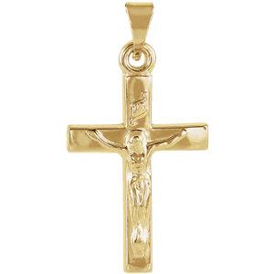 Pendant, 14K Yellow Crucifix Pendant