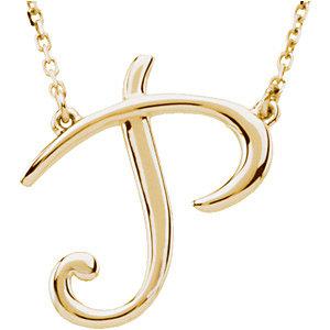 Necklace / Chain , Script Initial Necklace