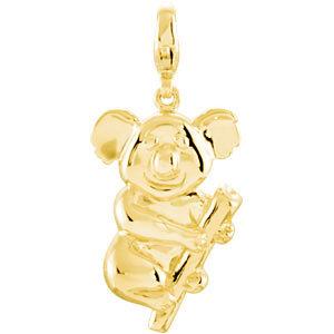 Charm / Pendant, 14K Yellow Charming Animals® Koala Bear Charm
