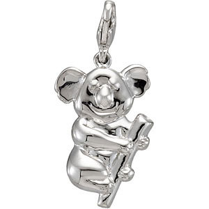 Sterling Silver Charming Animals® Koala Bear Charm