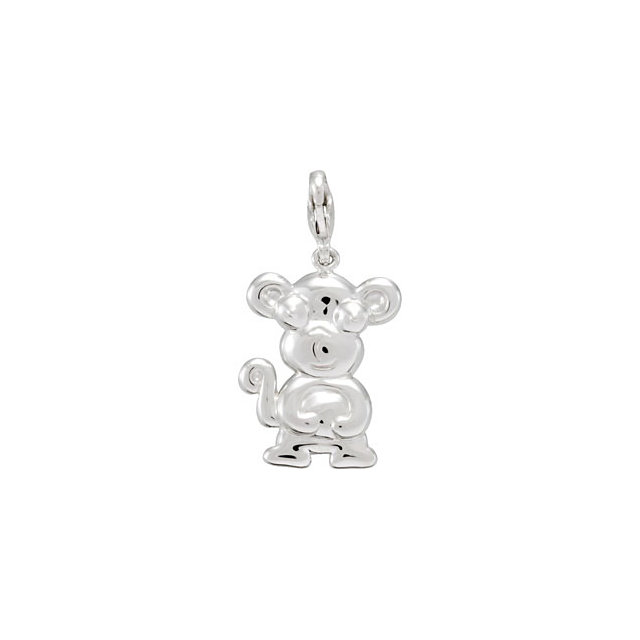 Sterling Silver Charming Animals® Monkey Charm