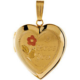 Design-Engraved Heart Locket