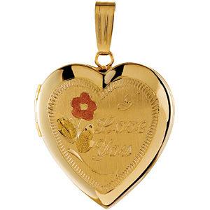 Design-Engraved Heart Locket