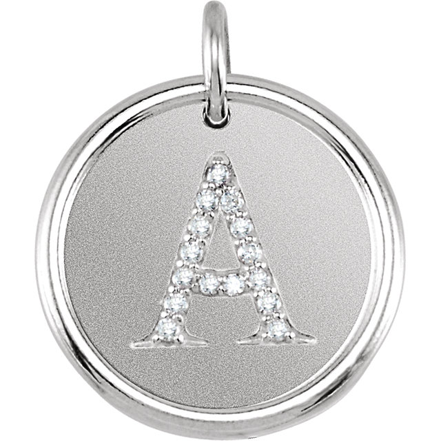 Sterling Silver .07 CTW Diamond Initial