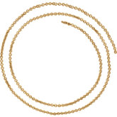 2.4mm Gold Filled Cable Chain by the Inch