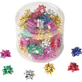 Metallic Mini Star Bows - Pack of 100