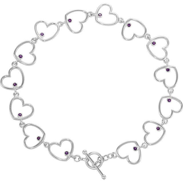 Sterling Silver Heart Link Bracelet Mounting