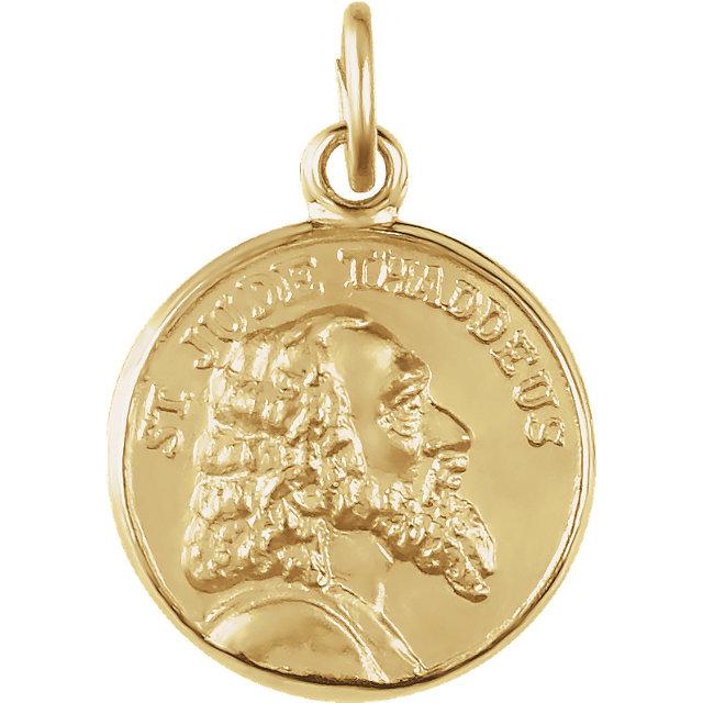14K Yellow 12mm St. Jude Thaddeus Medal