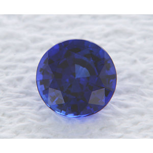 Sapphire Round 0.90 carat Blue Photo