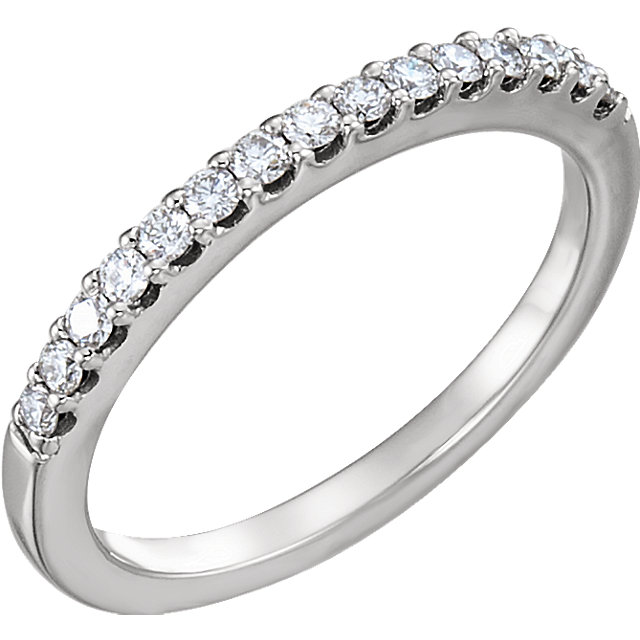 14K White 1/4 CTW Diamond Band for 5.75mm Engagement Size 7