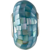 Kera® Sky Blue Mosaic Mother of Pearl Bead
