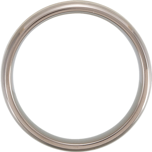 Titanium & Sterling Silver Inlay 7 mm Satin Finish Band Size 8.5