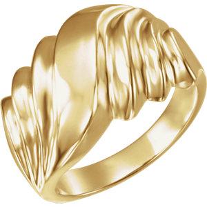 Fashion Rings , 14K Yellow Dome Ring