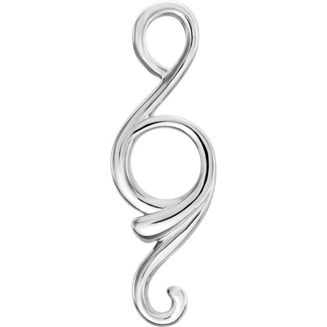Sterling Silver Freeform Pendant
