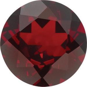 Garnet Round 0.35 carat Orange Red Photo