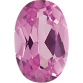 Oval Imitation Pink Tourmaline