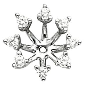 Earring Jackets, 14K White 1/2 CTW Diamond Earring Jackets
