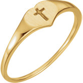 Youth Heart & Cross Ring