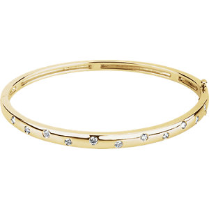 Bracelet, 14K Yellow 0.50 CTW Diamond Bangle Bracelet