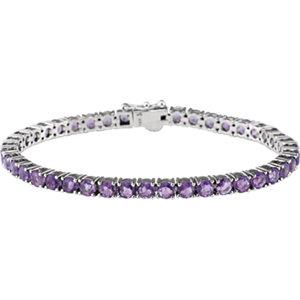 Bracelet, 14K White Amethyst 7.15