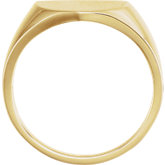 Men's Shield Closed Back Signet Ring