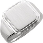 Posh Mommy® Men's Square Signet Ring