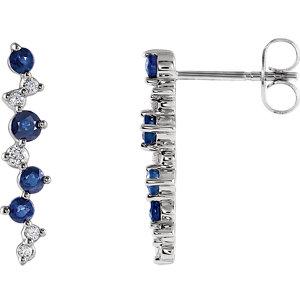 a4a00c7e6 Blue Sapphire & Diamond Earrings | Stuller