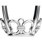 Oval 4-Prong Fleur-de-lis Setting for Earring Assembly