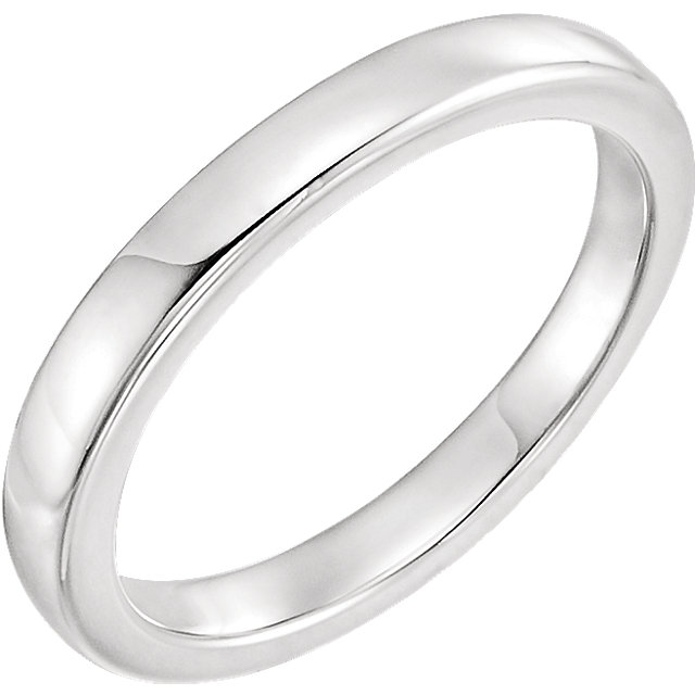 14K White Solstice Solitaire® #16=2.5-6.0 CT Tapered Bombé Matching Band