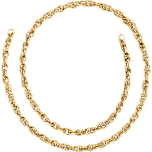 6adebc5a7342f 14K Yellow Gold Filled Rope Chain 2.3 mm Per Inch | Stuller