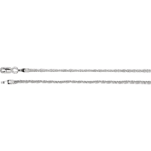 1.5mm Sterling Silver Twisted Wheat Chain