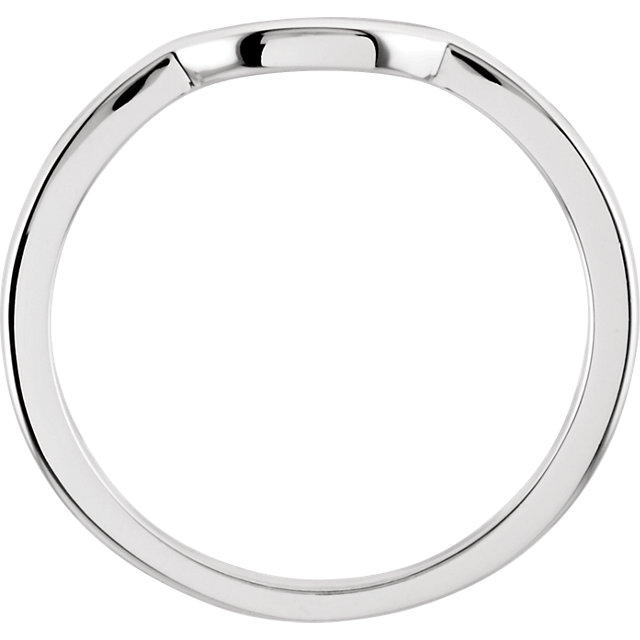 14K White Band for 6.5mm Engagement Ring