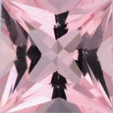 Square Genuine Morganite (Black Box)