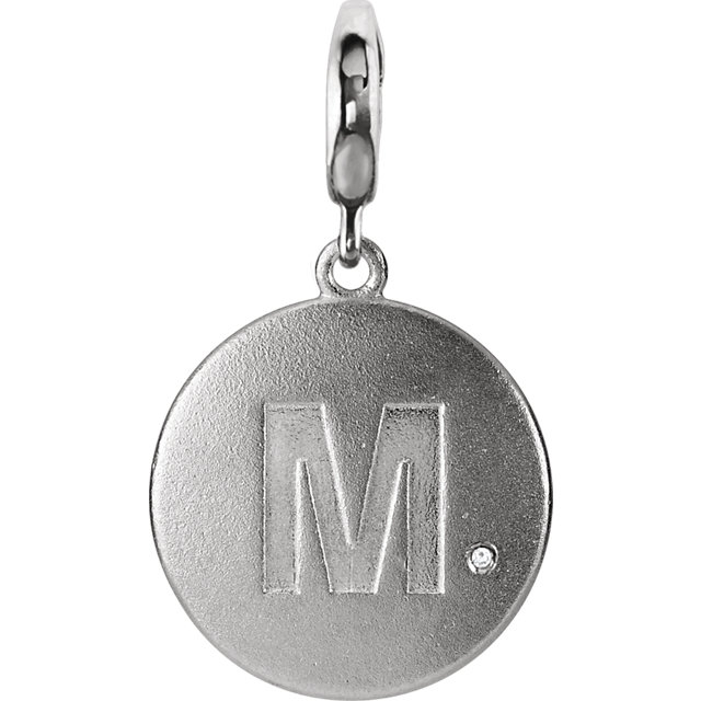 Sterling Silver Block Initial