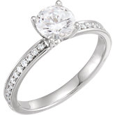 Charles & Colvard Moissanite® Accented Ring
