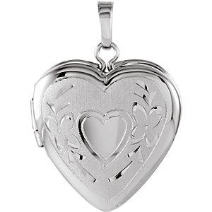 Sterling Silver 22.25x16mm Heart Shape Locket