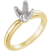 Twin-Prong Octet® Solitaire Engagement Ring