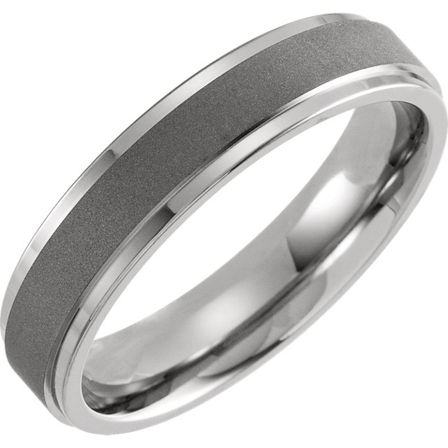 Titanium 5 mm Oxidized Flat Band Size 7
