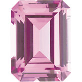 Emerald/Octagon Imitation Pink Tourmaline
