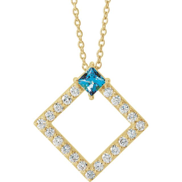 14K Rose Tanzanite & 3/8 CTW Diamond 16-18