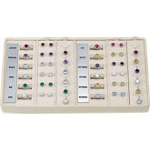 14K White 36 Piece Halo-Style Birthstone Ensemble Selling System