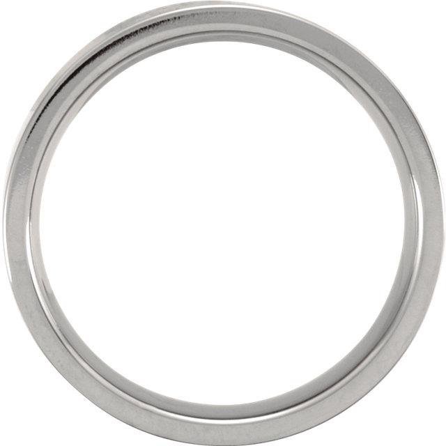 Titanium 6 mm Flat Polished Band Size 12.5