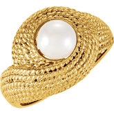 Rope Design Ring for Pearl