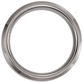 Tungsten 8.3mm Beveled Satin Band with Sterling Silver Inlay