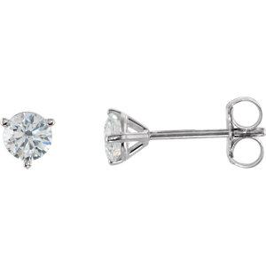 Earrings , 14K White 1/2 CTW Diamond Stud Earrings