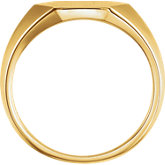 Ladies Geometric Signet Ring