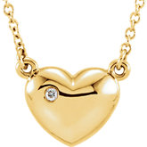 Accented Heart Necklace or Center