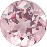 Round Genuine Pink Morganite
