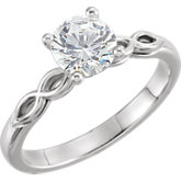 Charles & Colvard Moissanite® 4-Prong Solitaire Engagement Ring